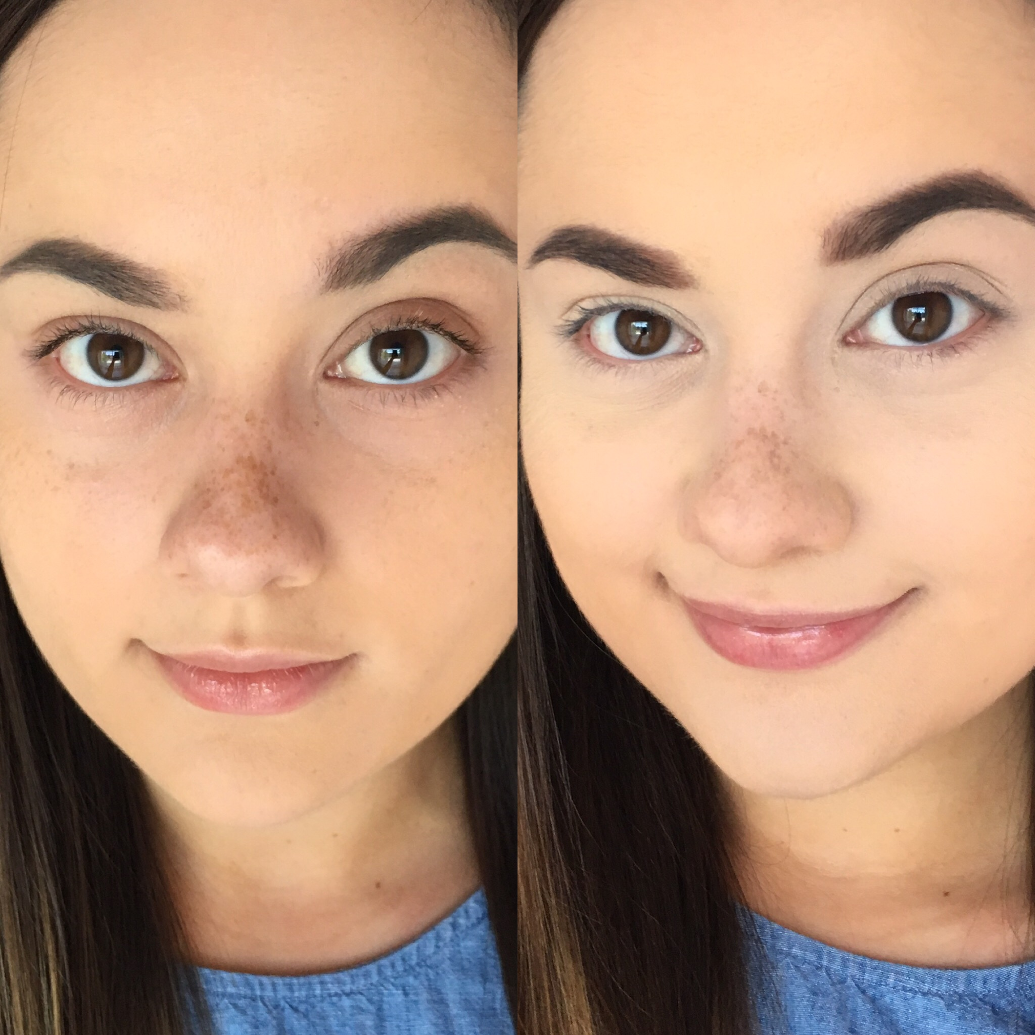 too faced concealer before and after. once i blended this product out, could tell it was a situation that needed to set with powder immediately in order prevent further creasing! too faced concealer before and after